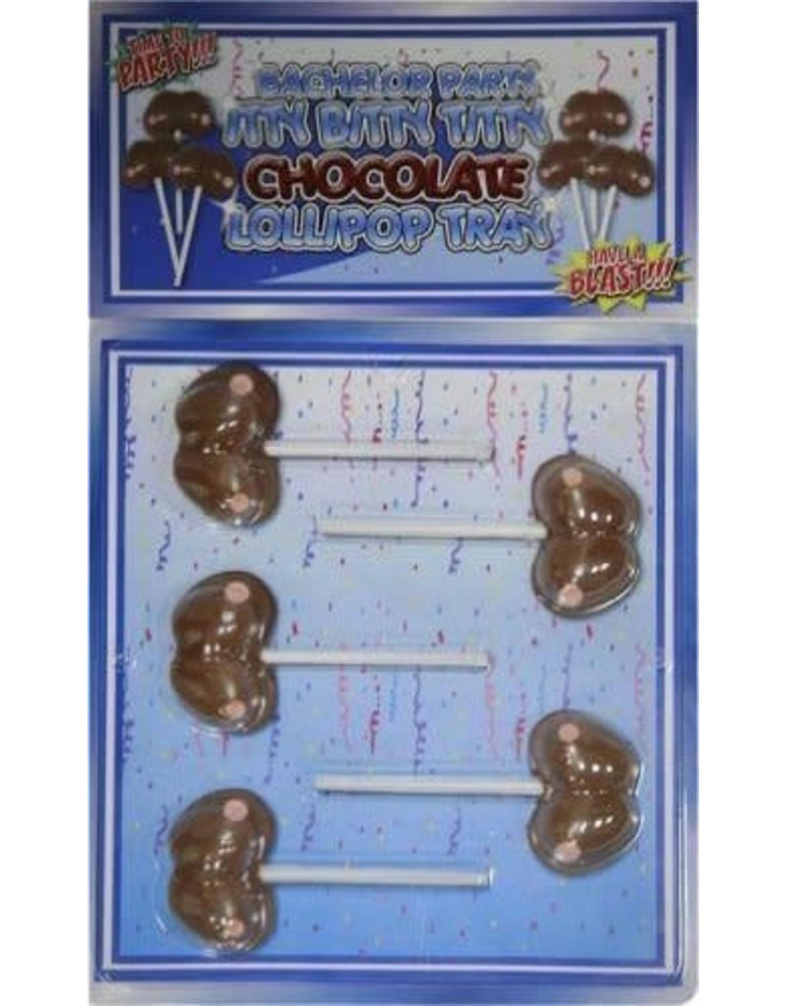 ITTY BITTY TITTY CHOCOLATE LOLLIPOP TRAY