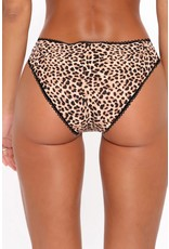 ANIMAL LEOPARD LACE PATCHWORK HOLLOW OUT WILD PANTY - (US 4-6)S
