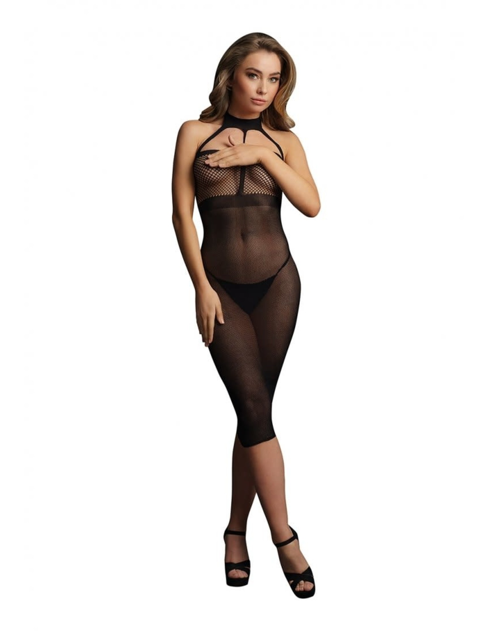 LE DESIR LINGERIE HIGH NECK DRESS -   BLACK - O/S