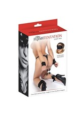 FETISH TENTATION - CROSS ANKLE AND WRIST STRAPS