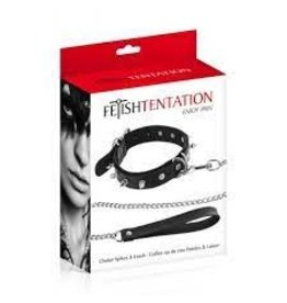 FETISH TENTATION - CHOKER WITH METAL SPIKES AND RINGS