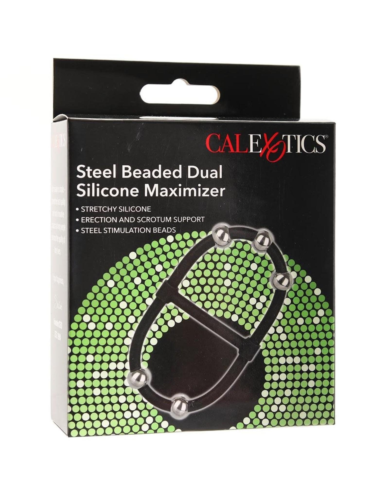 CALEXOTICS CALEXOTICS - STEEL BEADED DUAL SILICONE MAXIMIZER