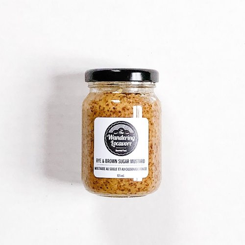 The Wandering Locavore Rye and Brown Sugar Mustard