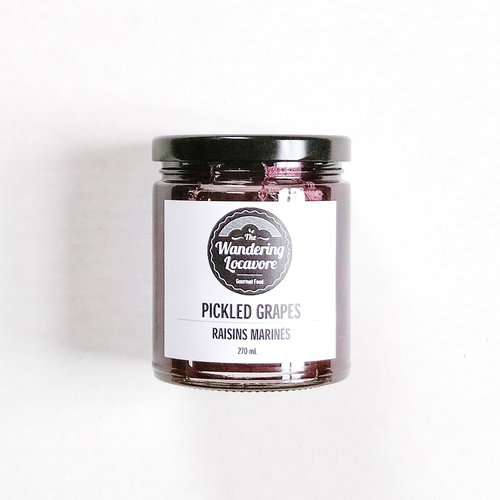 The Wandering Locavore Pickled Grapes
