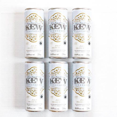 KEW Vineyards 2019 Organic Riesling, 6 Pack