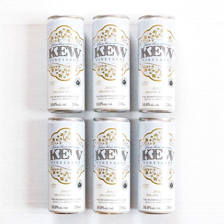 KEW Vineyards 2019 Organic Riesling, 6 Pack
