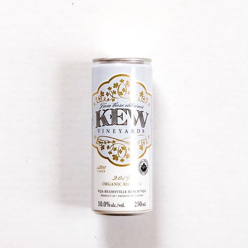 KEW Vineyards 2019 Organic Riesling, Can 250mL
