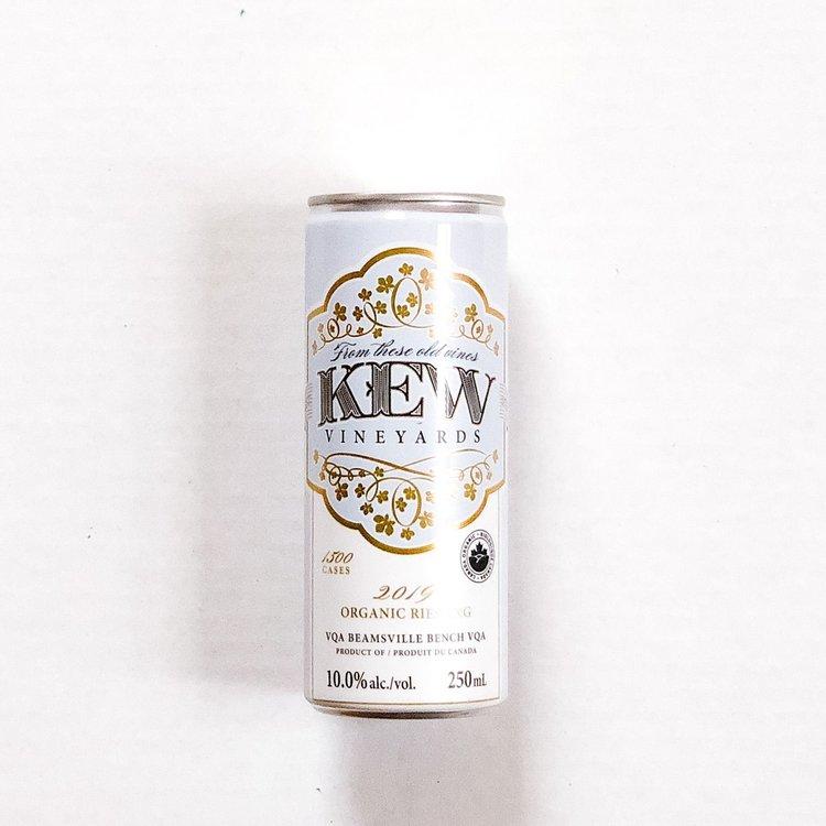 KEW Vineyards 2019 Organic Riesling, Can 250mL