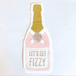 Slant Napkin, Fizzy Bottle