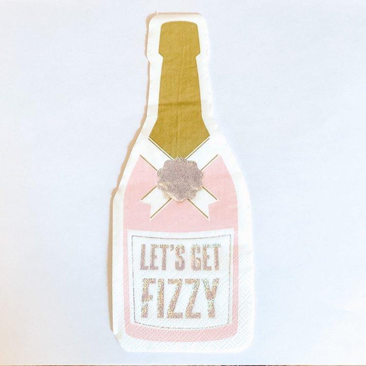 Slant Napkin, Fizzy Bottle