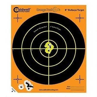"CALDWELL ORANGE PEEL 8"" BULLS-EYE: 5 SHEETS"
