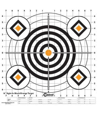 """CALDWELL Sight-In Paper Target 16"""" [10-Pack]"""