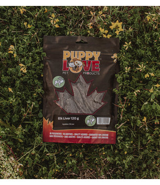 PUPPY LOVE PET PRODUCTS ELK LIVER 120G