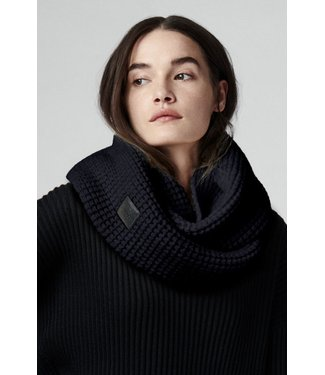 CANADA GOOSE CANADA GOOSE WOMEN'S WAFFLE INFINITY SCARF - NAVY