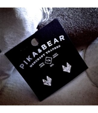 "PIKA & BEAR ""SILVER FOX"" STUD EARRINGS"