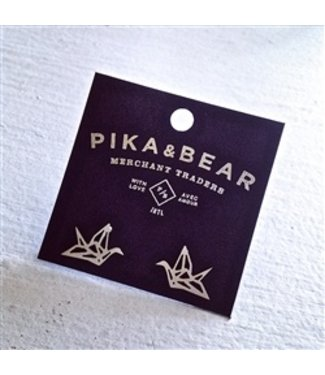 "PIKA & BEAR ""PAPER CRANE"" STUD EARRINGS"