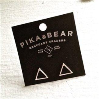 PIKA & BEAR TRIANGLE OUTLINE STUD EARRINGS