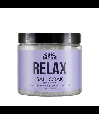 EPIC BLEND Relax Salt Soak 16OZ