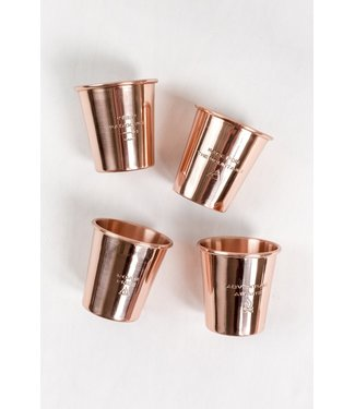 UNITED BY BLUE COPPER SHOT GLASS SET OF 4