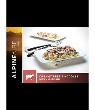 ALPINE AIRE CREAMY BEEF & NOODLES WITH MUSHROOMS