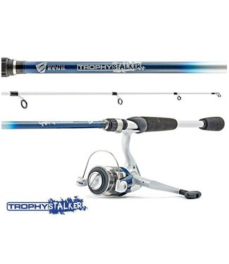 Trophy Stalker Family Tough Medium Spin Cast Combo, 6' 6""