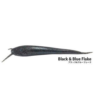 "NISHINE LURE WORKS Namazu 5"" - Black & Blue Flake"