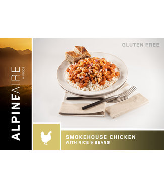 ALPINE AIRE SMOKE HOUSE CHICKEN WITH RICE AND BEANS