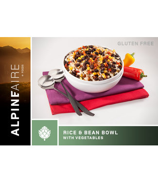 ALPINE AIRE RICE AND BEANS BOWL WITH VEGETABLES