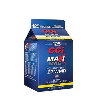 CCI CCI Maxi-Mag 22WMR, 40GR JHP [1875 FPS] [125RND PACK]