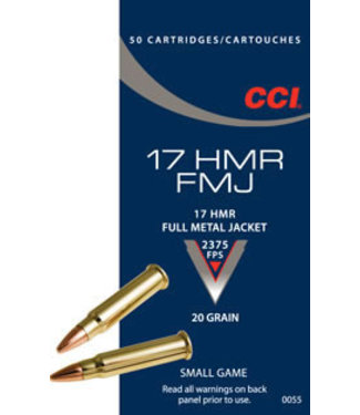 CCI Small Game 17HMR 20GR FMJ [2375 FPS]