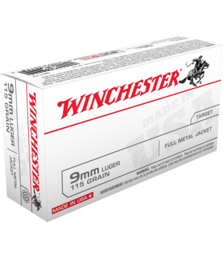 WINCHESTER USA Target 9MM 115GR FMJ (BRASS) [500RND/CASE]