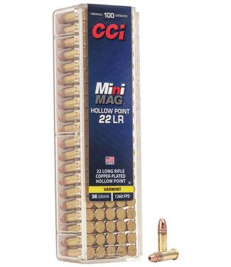 CCI Varmint Mini-Mag Hi-Velocity 22LR, 36GR CPHP [1260FPS]