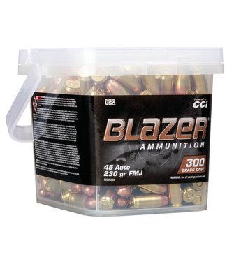 CCI Blazer Brass 45ACP 230GR FMJ (300 RND/BUCKET)
