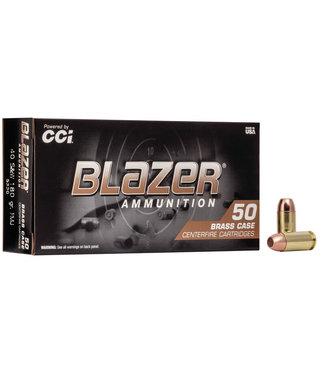 CCI Blazer Brass 40S&W 180GR FMJ