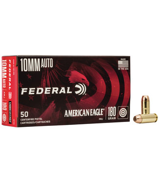 AMERICAN EAGLE AMMO Handgun 10MM AUTO 180GR FMJ (BRASS)