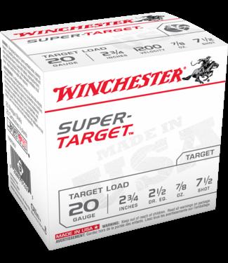 """WINCHESTER Super Target Light Target Load 20GA 2.75"""" 7/8OZ #7.5 [250RND/CASE]"""