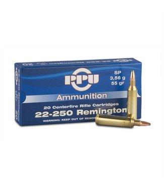 PPU Standard Rifle Line 22-250 55GR PSP