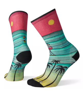 SMARTWOOL Women's Curated Surfing Flamingo Crew Socks