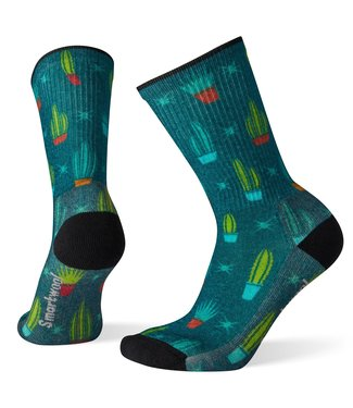 SMARTWOOL Women's Hike Light Cactus Print Crew Socks