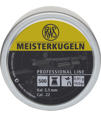 RWS Professional Line 'Meisterkugeln' 22CAL Flat-Nosed Pellets [500-Count]
