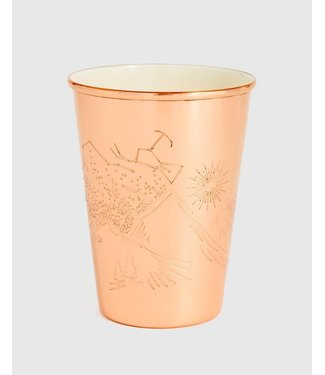 UNITED BY BLUE 16oz ENAMEL LINED COPPER TUMBLER