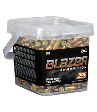 CCI Blazer Brass 9MM 115GR FMJ (500RND/BUCKET)
