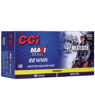CCI Maxi-Mag 22WMR 40GR JHP [1875 FPS] Bulk (200RND/BX)