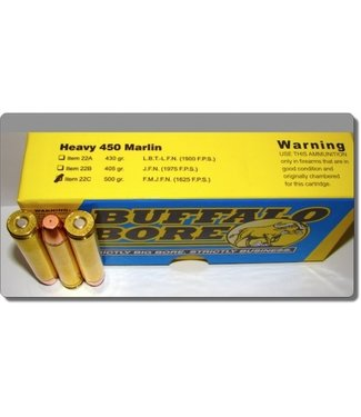 BUFFALO BORE Heavy 450MARLIN 500GR FMJFN