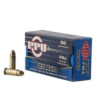 PPU Handgun Line 25 AUTO 50GR FMJ