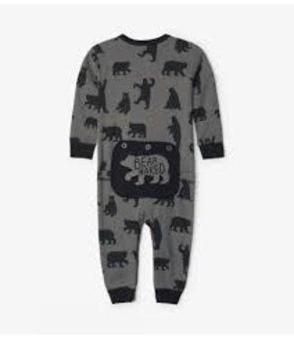 LITTLE BLUE HOUSE Charcoal Bears Baby Union Suit