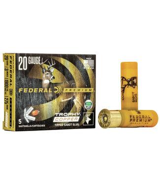 "FEDERAL Premium Vital Shok 20GA 3"" 275GR Trophy Copper Sabot Slug"