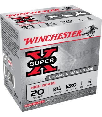 "Super-X High Brass 20GA 2.75"" 1OZ #6 [1220 FPS]"