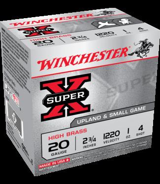 "WINCHESTER Super-X High Brass 20GA 2.75"" 1OZ #4 [1220 FPS]"