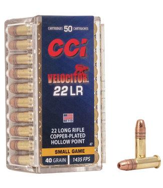 CCI Velocitor Hi-Velocity 22LR, 40GR CPHP [1435FPS]